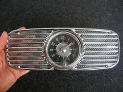 Vw Oval 8 Day Clock Vdo + New Perohaus Grill Accessory - Wind Up Working