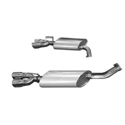 Kooks 2011+ For Chevrolet Caprice Ppv Oem 3in Axleback Exhaust W/polished Oval M