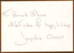 Jacqueline B. Kennedy - Autograph Note Signed
