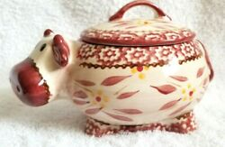 Temptations Dinnerware By Tara Old World Cow Covered Sugar Bowl 16 Ounce