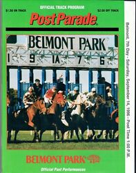 Cigar And Smart Strike In 1996 Woodward Stakes Belmont Park Horse Racing Program