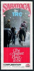 Champion Forty Niner, Tejano In 1987 Saratoga Special Horse Racing Program