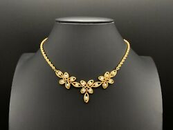 Vintage 14k Yellow Gold Pearl Necklace