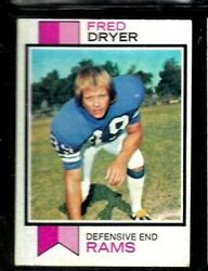 1973 Topps 389 Fred Dryer Los Angeles Rams Clean Card Bright And Fresh