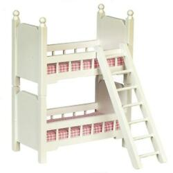 Dolls House Small White Wooden Bunk Beds 112 Bedroom Furniture Bunkbeds