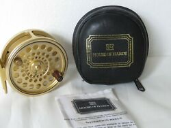 Hardy Gold Sovereign 7/8 Reel With Phamplet In Hardy Leather/wool Lined Case