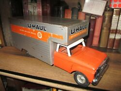 Vintage 1960and039s Nylint Pressed Steel Uhaul Moving Box Toy Truck Large 19 ....