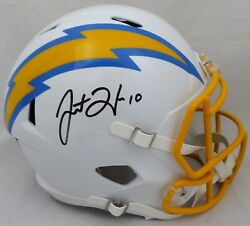 Justin Herbert Autographed Signed Chargers Full Size Speed Helmet Beckett 191030