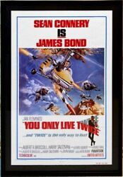 You Only Live Twice, Sean Connery, 1967 James Bond Original Movie Poster Framed