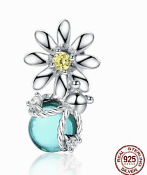 Pandora Sterling Silver 925 Ale Sun Flower And Busy Bee Charm Dangle 558824