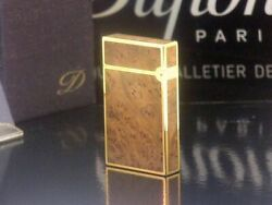 S.t. Dupont Pink Gold Birdseye Line Gas Lighter Dupont Yeo Beautiful Clothes