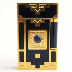 Dupont 16892 Line Nuevo Mundo 1998 Spinel Gas Lighter Navy Gold Limited To 2 000