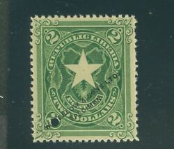 Liberia 1892 2 Star Waterlow Specimen Ovpt. O Over N Variety 48