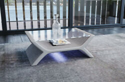 Coffee Table Living Room Table Calabria Design Fabric Pads Side Table Led