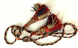 Civil War Military Flag Pole Tassels, Red White And Blue Twisted Wool Cord