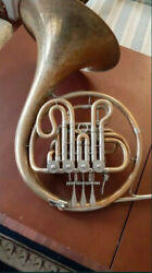 Vintage Germany Brass Pipe French Horn Hans Hoyer Made In Gdr