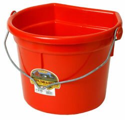 Miller Little Giant P24fbred 22 Qt. Flat Back Plastic Bucket W/knob Bail