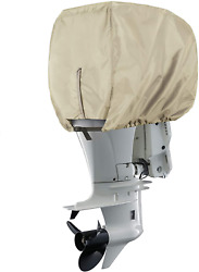 Explore Land Waterproof 600d Heavy Duty Outboard Motor Cover - Full Size Boat Up
