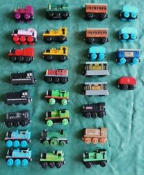 Huge Thomas The Tank Engine Wooden Train Bundle Trains And Carriages 28 In Total