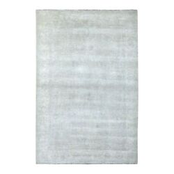 6'1x9' Hand Knotted With Faded Colors White Wash Peshawar Shiny Wool Rug R67500
