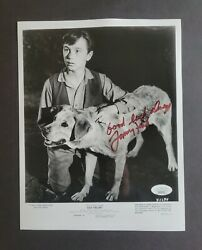 Tommy Kirk Signed Old Yeller Tv Show Photo Jsa Authenticated