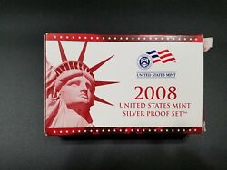 2008 Us Mint Silver Proof Set 14 Coins With Box And Coa