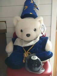 1999 Dayton Hudson Millennium Santa Bear With Magic 8 Ball Stuffed Plush Toy 24andrdquo