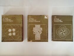 Set Of 3 Ford 1978 Car Shop Manuals Vol 2, 3 And 4, Engine Electrical Body, Auto