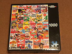 White Mountain Puzzles Vintage Cereal Boxes 1000 Pc Jigsaw Puzzle Complete