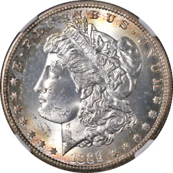 1889-s Morgan Silver Dollar Ngc Ms65 Great Eye Appeal Strong Strike