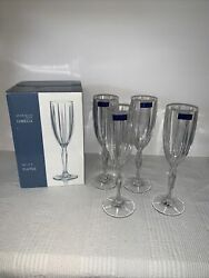 Marquis Waterford Crystal Omega Champagne Flute Set Of 4 Signed 151726