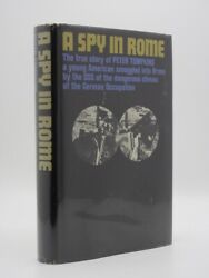 A Spy In Rome Peter Tompkins 1962 3rd Imp Wwii Espionage Occupied Italy Oss