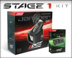 Edge Jammer Stage 1 Cold Air Intake Kit And Evo Cs2 W/ Dry Filter Fr Gmc 2015 6.6l