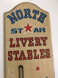 Vintage 1967 Yorkraft Sign North Star Livery Stables Thermometer