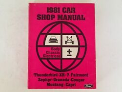 Ford 1981 Car Shop Manual - Body Chassis Electrical, Vehicle Auto Repair Mustang