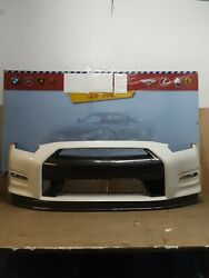 2013 2014 2015 2016 Nissan Gt R Front Bumper W/ Lower Valance Oem Used