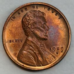 1909 - S - Vdb - Lincoln Wheat Cent - Bu - Stunning Luster And Toning - Key Date
