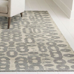 Area Rugs 9and039 X 12and039 Orlo Grey Artisan Hand Tufted Crate And Barrel Rayon Carpet