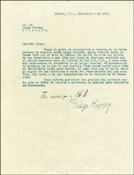 Diego Rivera - Typed Letter Signed 12/05/1929