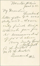 James A. Garfield - Autograph Letter Signed 06/25