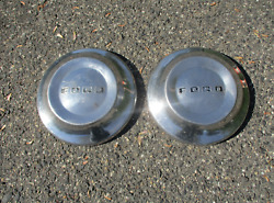 Lot Of 2 Factory Original 1953 To 1956 Ford Crown Victoria Dog Dish Hubcaps
