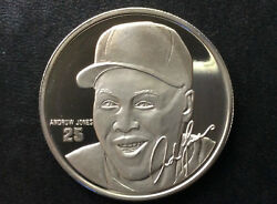 Andrew Jones Mlb Limited Edition Silver Medal A2517