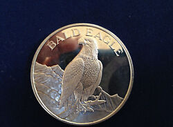 Bald Eagle North American Wildlife Series Two Troy Oz Silver Art Medal P2359