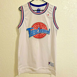 Vintage Champion Space Jam Tune Squad Bugs Bunny 1 Jersey White Large Stitched