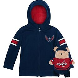 Washington Capitals Cubcoats Toddler 2-in-1 Transforming Full-zip Hoodie And Soft