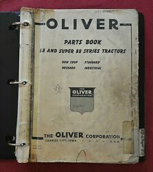 1957 Oliver 88 And Super 88 Row Crop Orchard Standard Tractor Parts Catalog Manual