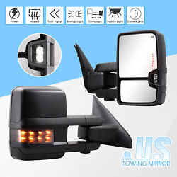 For 09-18 Dodge Ram 1500 2500 3500 Towing Mirror Power Heated Puddle Smoke Lens