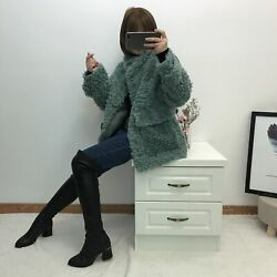 All-wool Fur Coat Leather Straw Female Korean Version Of The Short Solid Color