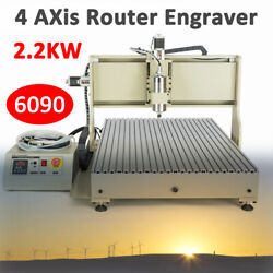 Usb 4axis Router Engraver Cnc 6090 Carving Milling Engraving Machine 2.2kw Route