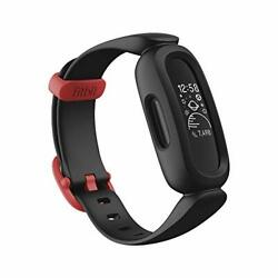 Fitbit Ace 3 Activity Tracker For Kids 6+ One Size Black/racer Red